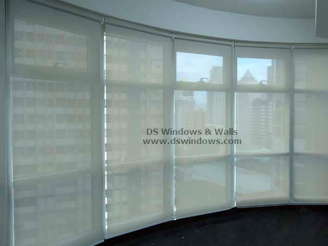 Sunscreen Roller Blinds installed in Curve Window - Mandaluyong City, Philippines