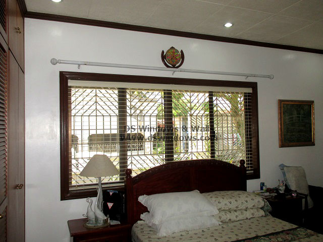 Wooden Blinds installed in Nuvali Laguna, Philippines
