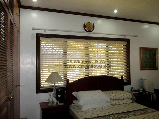 Inside Mounting Wooden Blinds For Decorated Window Frame - Nuvali Laguna, Philippines