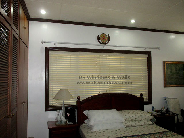 Wooden Blinds Mounted Inside Window Frame - Nuvali Laguna, Philippines