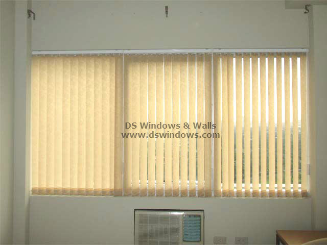 Fabric Vertical Blinds installed in Townhouse - Fairview Quezon City, Philippines