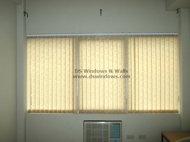 Pansy 921 Brown Fabric Vertical Blinds installed at Fairview Quezon City, Philippines