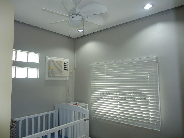 Faux Wood Blinds Installed In A Baby Room At Bacoor Cavite, Philippines