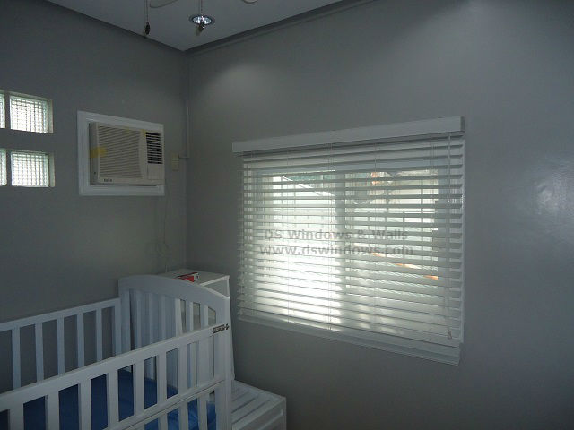 Faux Wood Blinds for Grey White Baby Room - Bacoor Cavite, Philippines