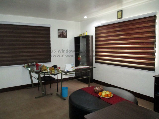 Brown Duo Shade Blinds Attract Luck and Energy for 2015 - Manila, Philippines