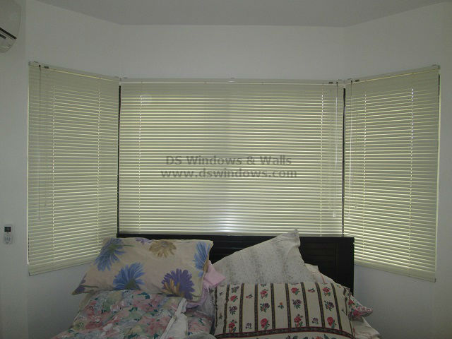 Mini Venetian Blinds Installed In A Bay Window At Bagong
