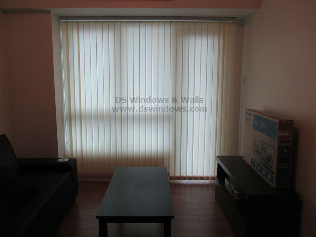 Fabric Vertical Blinds for Bachelor or Bachelorette's Apartment - Makati City