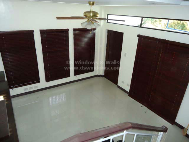 Wooden Blinds installed at Tayabas Quezon, Philippines