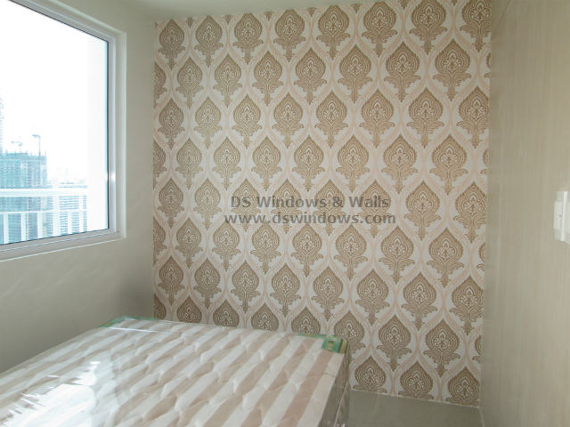 Patterned Wallpaper: Adding Spice to Plain White Wall - Mandaluyong City, Philippines