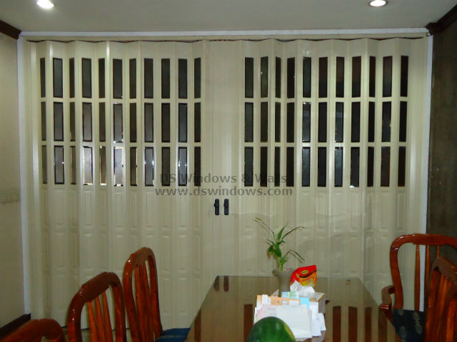 Half Glass French Accordion Door as Room Partition - Metro Manila Installation