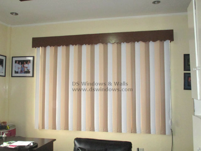 Tri-Color PVC Vertical Blinds Combination for Traditional Interior Design - Taguig City