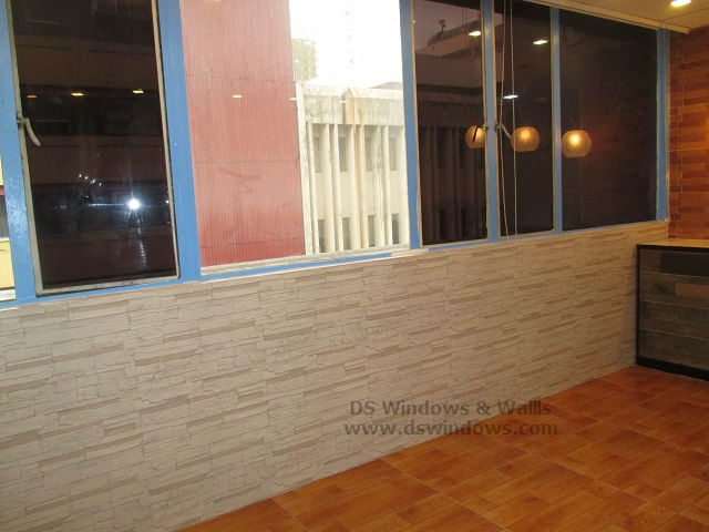 Bricks Wallpaper and Laminated Wood Flooring Installed at East Avenue, Quezon City
