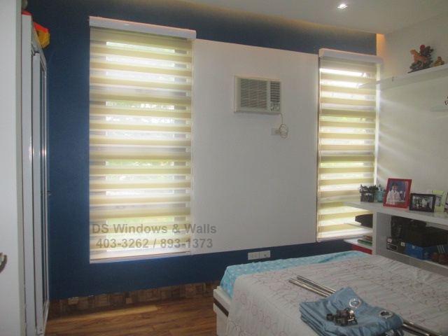Combi shades with natural beige color