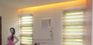 Fresh window shades beige color