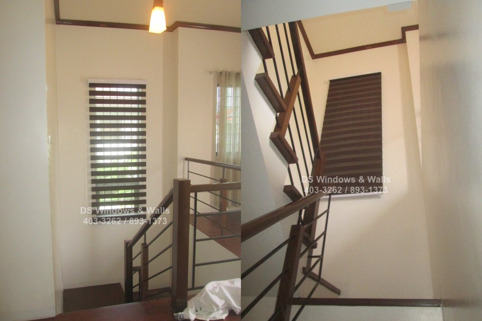 Window stairwell combi blinds