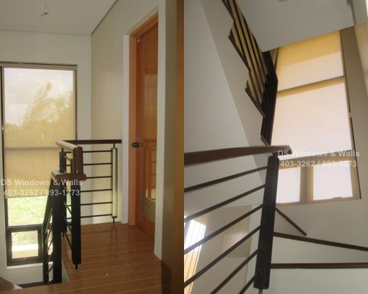 Window stairwell roller blinds