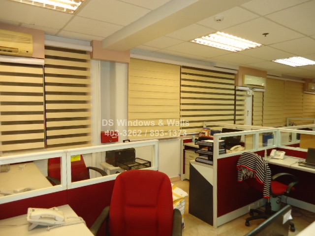 Office window blinds styles with beige color
