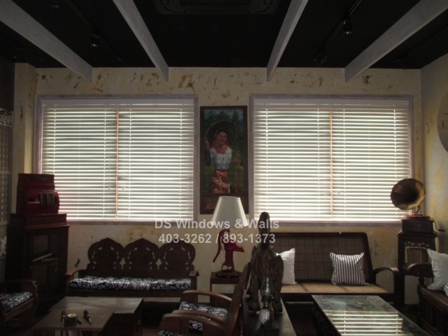 White PVC Wood Blinds for Homes