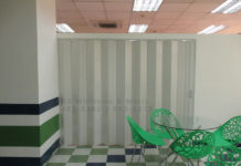 PVC accordion door Makati installation