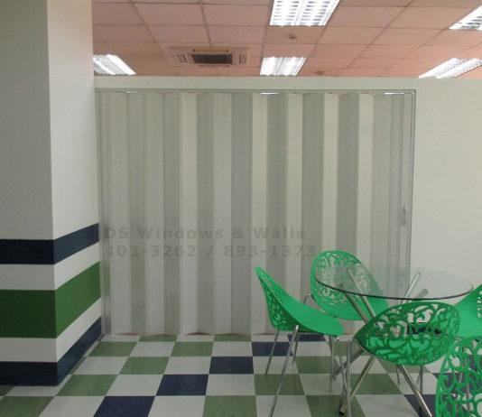 PVC accordion door Makati installation